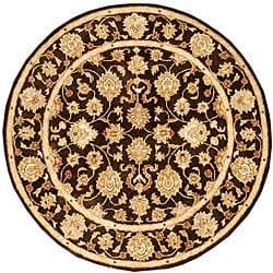 Hand-tufted Kayden Brown Wool Rug (6' Round)