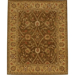 Hand-tufted Daltin Brown Wool Rug (2' x 3')