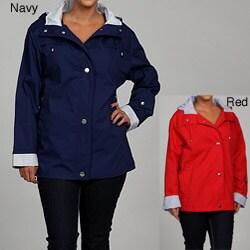 Mackintosh Women's Plus Size Water-resistant Hooded Jacket