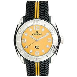Croton Men's CX Series Yellow Dial Quartz Watch