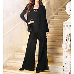 Newport News Women's Velour Wide-leg Jumpsuit