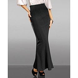 Shape FX Women's Petite Control Flared Maxi Skirt