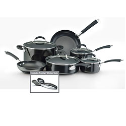 Farberware Millennium Nonstick Aluminum 12-piece Black Cookware Set