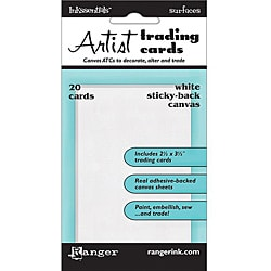 Ranger Inkssentials Surfaces White Sticky Backed ATC's (Pack of 20)