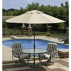 Swim Time Catalina II 9 ft. Octagonal Market Umbrella with Auto-Tilt in Champagne Olefin