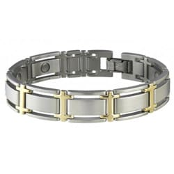 Sabona Executive Symmetry Duet Size M -7.0 Magnetic Bracelet