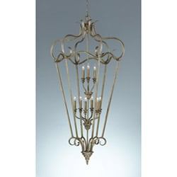 Smokey Topaz 2-tier 9-light Cage Chandelier