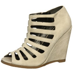 Coconuts Women's 'Oliver' Ivory Wedge Sandals