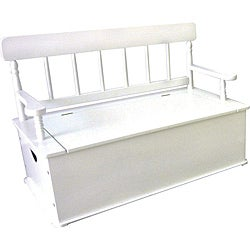 Levels Of Discovery Simply Classic White Storage Bench Seat