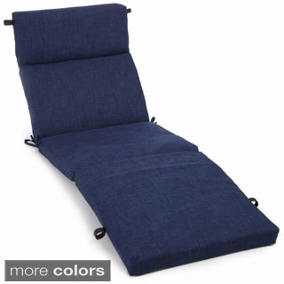Blazing Needles Solid All-weather UV-resistant Outdoor Chaise Lounge Cushion