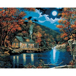 Paint By Number 'Lakeside Cabin' Kit