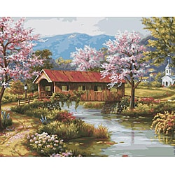 Paint By Number &#39;Covered Bridge&#39; Kit