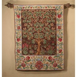 Tree of Life Earth and Sky Large Cotton Tapestry