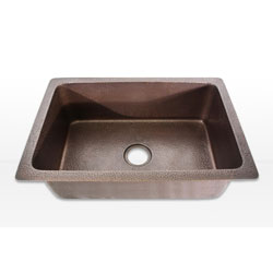 Highpoint Collection 30-inch Undermount Hammered Light Copper Kitchen Sink