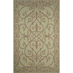 Gatework Iron Aqua Blue Rug (3'3 x 4'11)