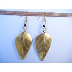 Recycled Aluminum Leaf Earrings (Kenya)