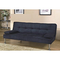 Black Contemporary Microfiber Sleeper Futon Sofa Bed