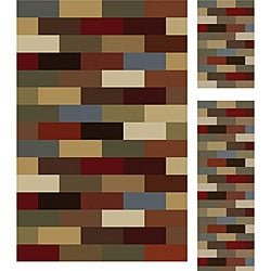 Multi Collection Set of 3 Area Rugs (1&#39;8x2&#39;8, 1&#39;8x5&#39;, 5&#39;x7&#39;&#39;)
