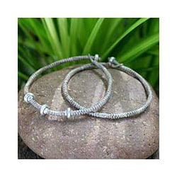 Set of 2 Silver 'Ethnic Legacies' Braided Bracelets (Thailand)