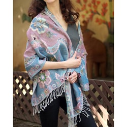 Wool 'Summer Harmony' Shawl (India)