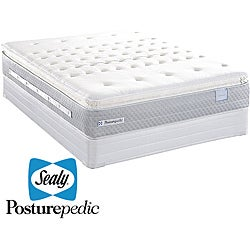 Sealy Posturepedic Pointborough Plush Euro Pillowtop King-size Mattress Set