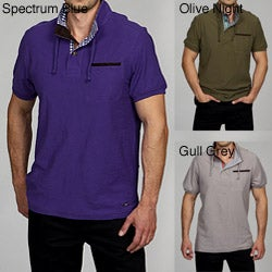 Cavi Men's Mock Neck Polo Shirt