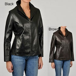 Tibor Women's Leather Zip-up Jacket