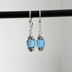 That's A'more Sterling Silver Crystal Birthstone Earrings