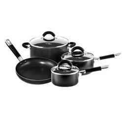 Hamilton Beach Black 7-piece Nonstick Cookware Set