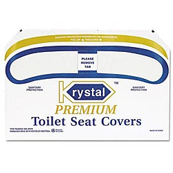 Krystal Premium Half-fold Toilet Seat Covers (Case of 1,000)