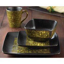 American Atelier Yardley Yellow 16-piece Dinnerware Set