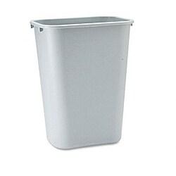 Rubbermaid Grey Soft Molded Plastic Wastebasket
