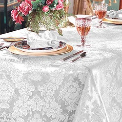 Vienna Damask White 60x84 Oblong Tablecloth