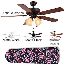 New Image Concepts 4-light Girly Love Blade Ceiling Fan