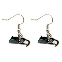 Seattle Seahawks Dangle Logo Earrings