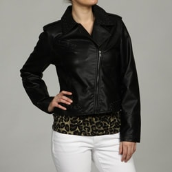 Kenneth Cole Women's Front Zip Moto Jacket FINAL SALE