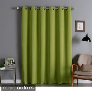 Lights Out Wide Thermal 80-Inch Width Blackout Curtain Panel