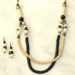 Puca and Shaped Hardwoods 2-layer Jewelry Set (Philippines)