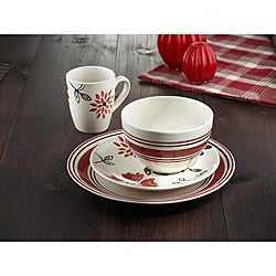 American Atelier Ashby Chili Red 16-piece Dinnerware Set