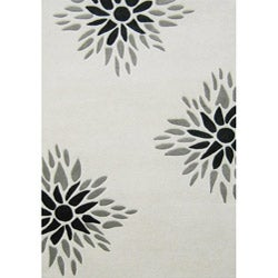 Alliyah Handmade Off-White New Zealand Blend Wool Rug