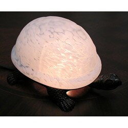 Warehouse of Tiffany White Turtle Accent Lamp