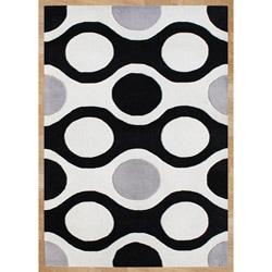 Handmade Metro Sabrina Off-white Wool Rug (5' x 8')