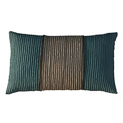 Jiti Pillows Bombay Monaco Aqua/ Beige Decorative Pillow