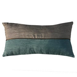 Bombay Monaco Beige/ Aqua Decorative Pillow