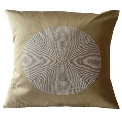 Jiti Silk Bronze Embroidered Decorative Pillow