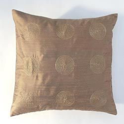 Bronze Center with Metallic Thread Decorative Pillow
