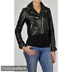 Knoles &amp; Carter Women&#39;s Leather Motorcyle Jacket