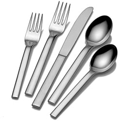 Calvin Klein 18/10 'Ovid' Stainless Steel 5-piece Place Setting