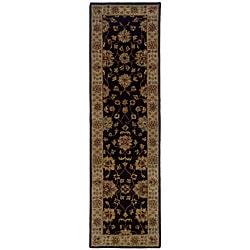 Hand-tufted Black Wool Area Rug (2'3 x 8')