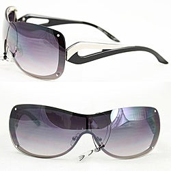 Women's M9203 Black Metal Rimless Sunglasses